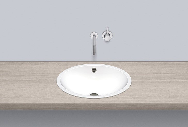 Built-in basin from glazed steel EB.O525 - ALAPE