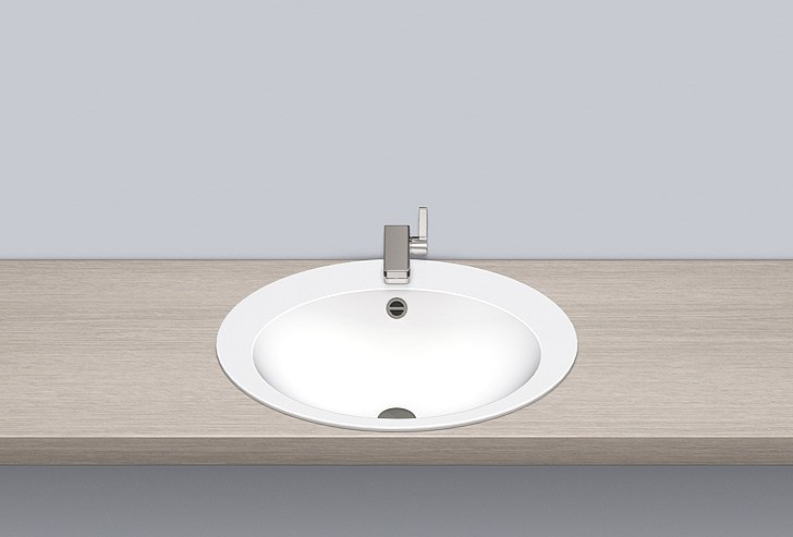 Built-in basin from glazed steel EB.O600H - ALAPE