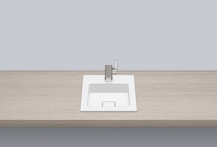 Built-in basin from glazed steel EB.Q325H - ALAPE