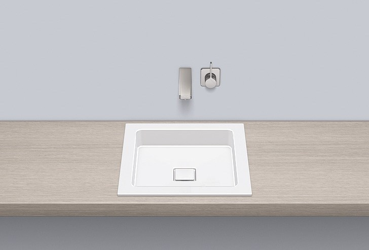 Built-in basin from glazed steel EB.Q450 - ALAPE