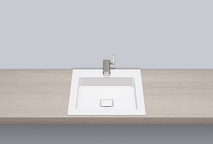 Built-in basin from glazed steel EB.Q450H - ALAPE