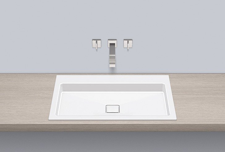 Built-in basin from glazed steel EB.RE700.2 - ALAPE