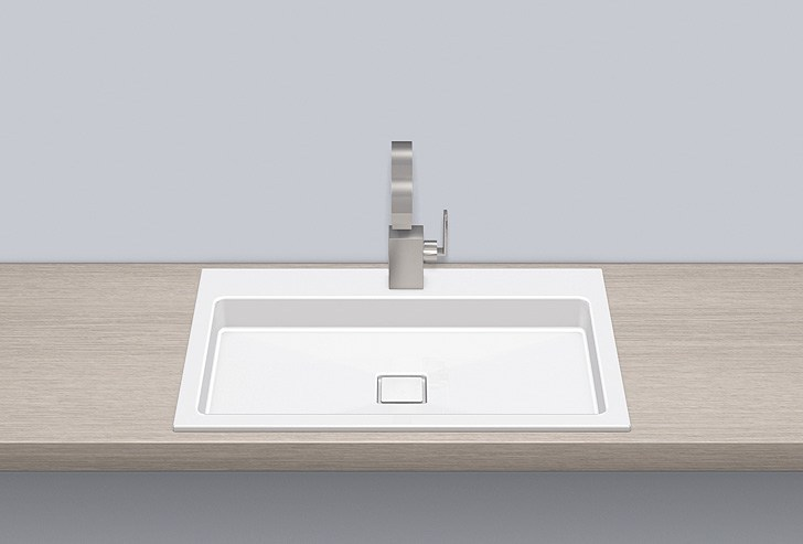 Built-in basin from glazed steel EB.RE700H.2 - ALAPE