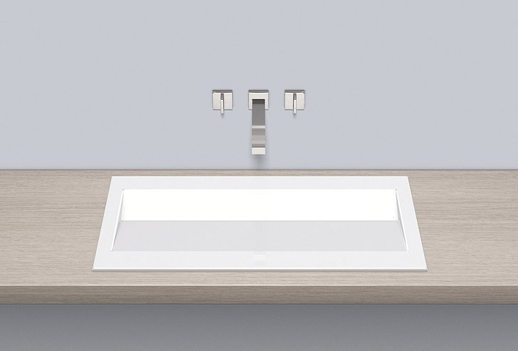 Built-in basin from glazed steel EB.RY800 - ALAPE