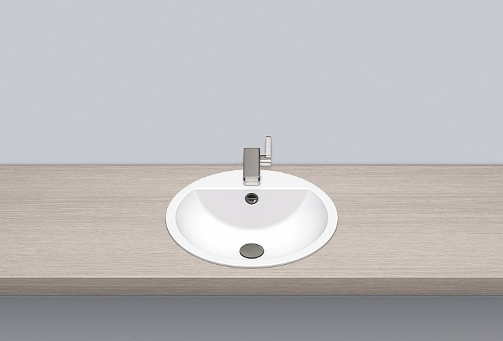 Built-in basin from glazed steel EB.S450H - ALAPE