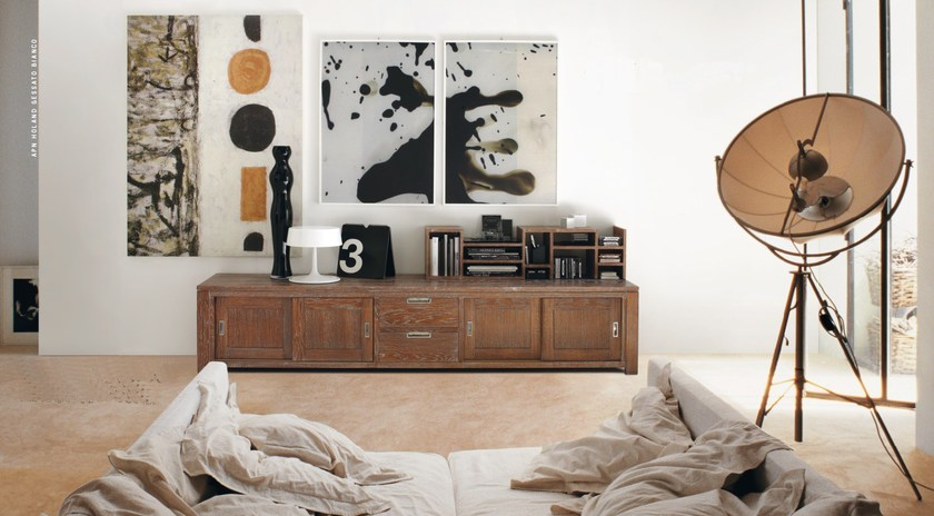 Wooden TV cabinet with drawers ECLETTICA | TV cabinet - Devina Nais