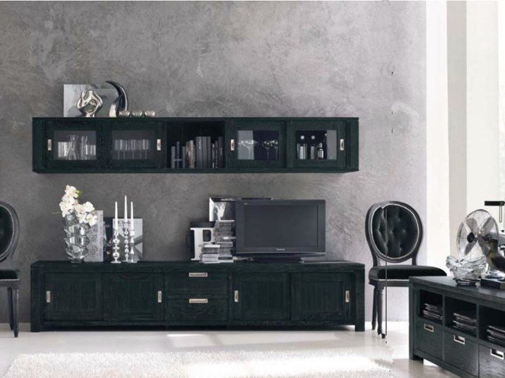 Sectional TV wall system ECLETTICA | Storage wall by Devina Nais