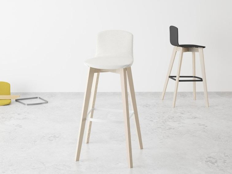 Counter stool with footrest ECLIPSE | Counter stool - CANCIO
