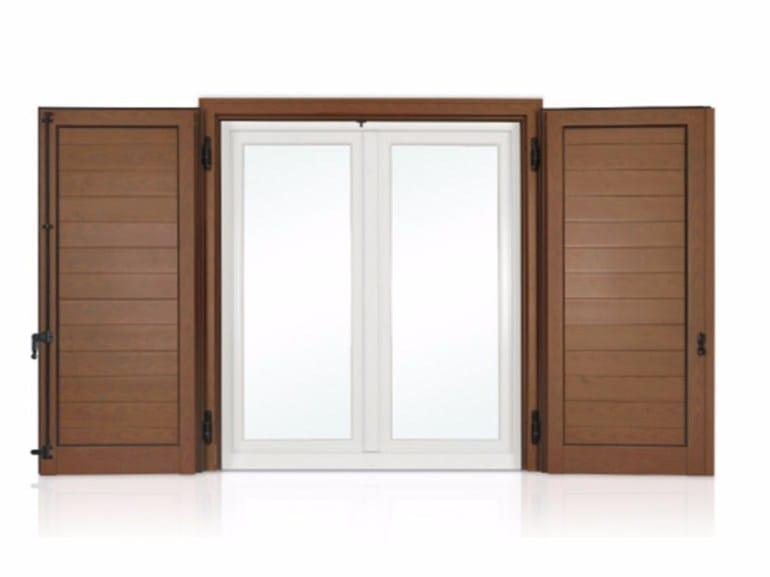 Wooden panel shutter ECLISSE with horizontal slats - Cos.Met. F.lli Rubolino