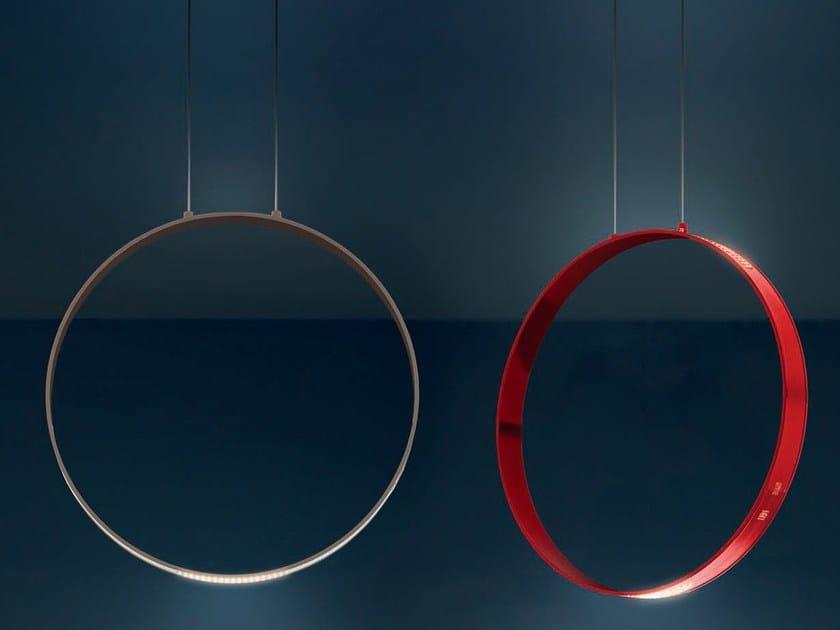 LED direct-indirect light aluminium pendant lamp ECLITTICA 50 by Artemide