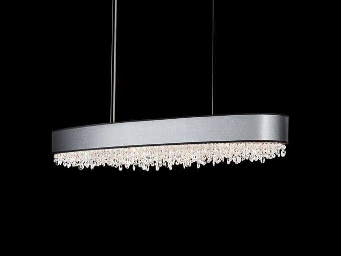 Halogen stainless steel pendant lamp with Swarovski® Crystals ECLYPTIX | Pendant lamp - Schonbek by Swarovski International Distribution