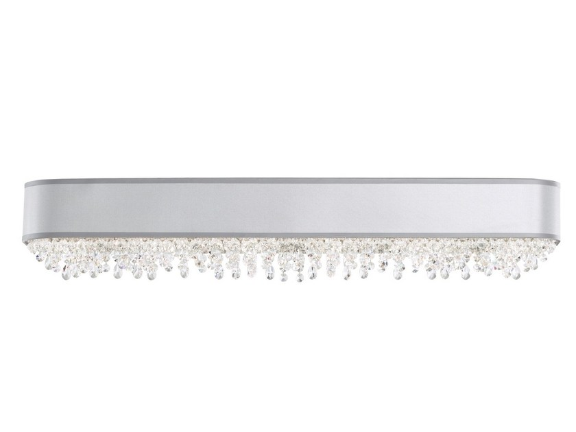 Stainless steel wall light with Swarovski® crystals ECLYPTIX | Wall light by Schonbek