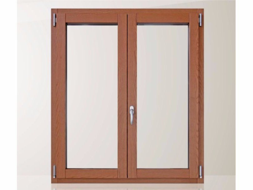Aluminium and wood casement window ECO 650 QUADRA 90° - Cos.Met. F.lli Rubolino