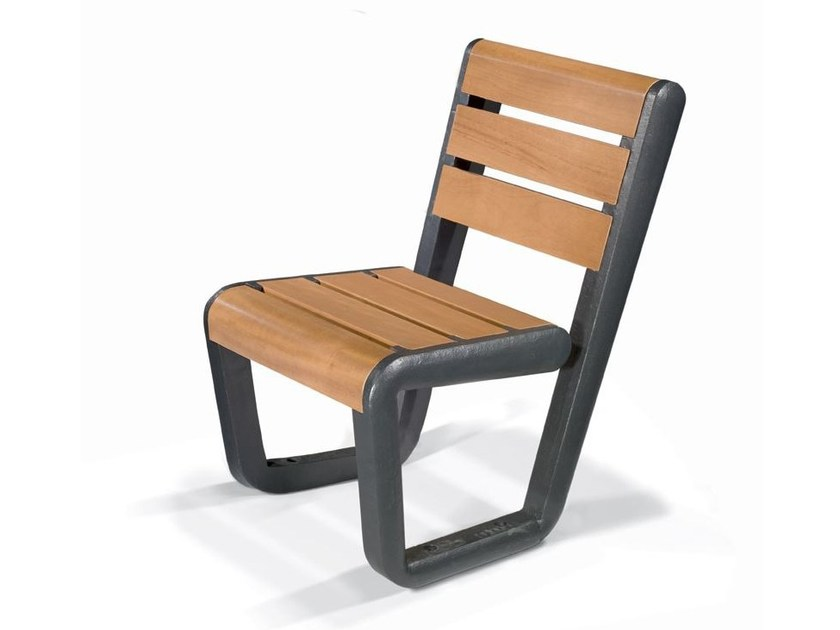 Steel and wood Bench ECO CHAIR - LAB23