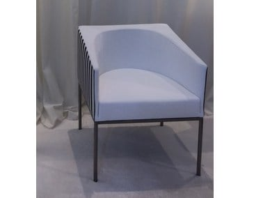 Fabric easy chair with armrests ECO by ERBA ITALIA