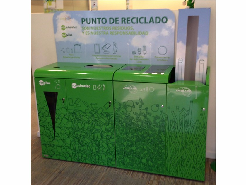 Portarifiuti per raccolta differenziata ECO SPAIN by LAB23