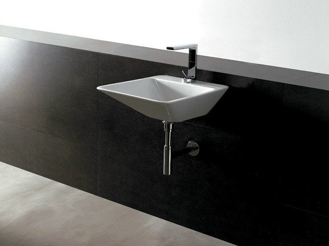 Rectangular ceramic washbasin EDGE 44X54 | Washbasin - Alice Ceramica