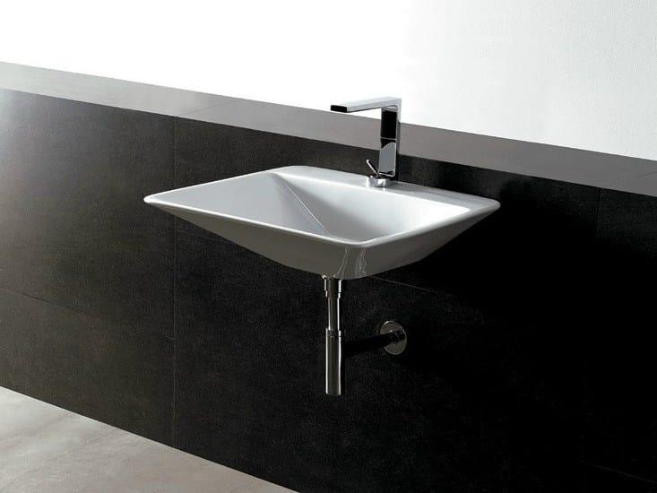 Rectangular ceramic washbasin EDGE 59X54 THIN | Washbasin - Alice Ceramica