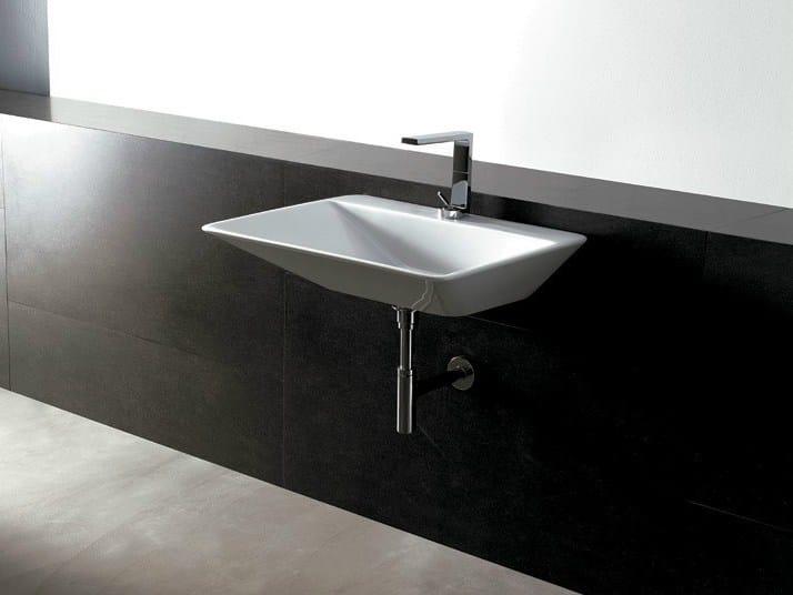 Rectangular ceramic washbasin EDGE 69X54 THIN   Washbasin - Alice Ceramica