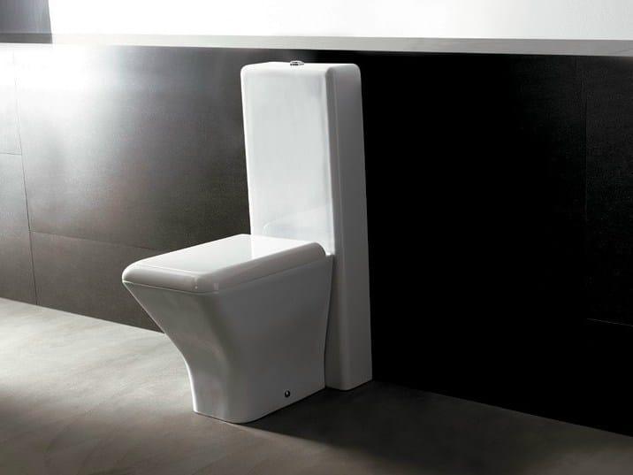 Close coupled ceramic toilet EDGE QUADRA | Close coupled toilet - Alice Ceramica
