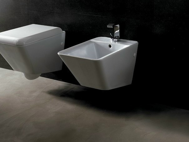 Wall-hung ceramic bidet EDGE QUADRA | Wall-hung bidet - Alice Ceramica