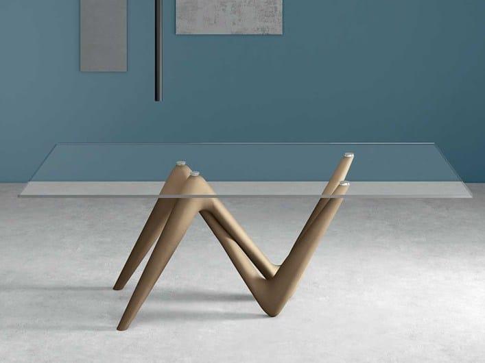 Tavolo rettangolare in vetro temperato EDGE | Tavolo rettangolare - ITALY DREAM DESIGN - Kallisté