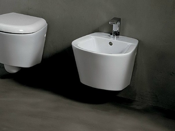 Wall-hung ceramic bidet EDGE TONDA | Wall-hung bidet - Alice Ceramica