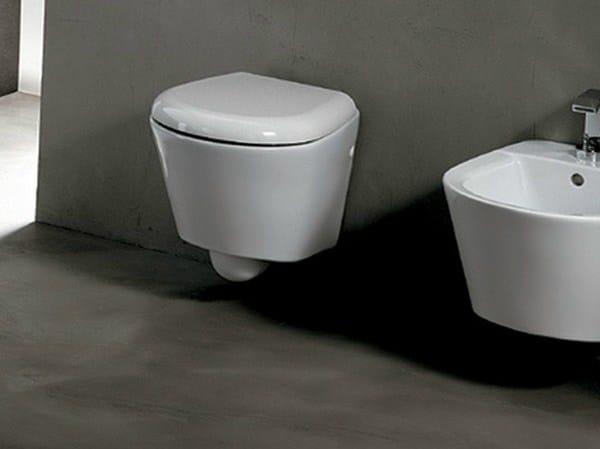 Wall-hung ceramic toilet EDGE TONDA   Wall-hung toilet - Alice Ceramica