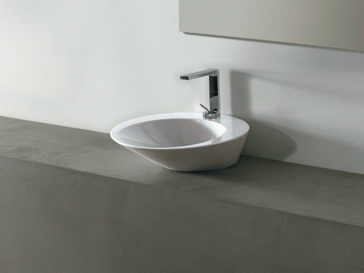 Round ceramic washbasin EDGE TONDO | Washbasin - Alice Ceramica