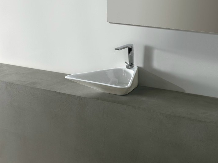 Countertop ceramic washbasin EDGE TRIO | Washbasin - Alice Ceramica
