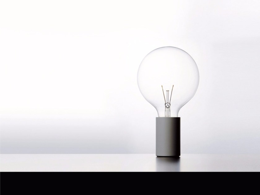 Metal table lamp with dimmer EDI SON by DAVIDE GROPPI
