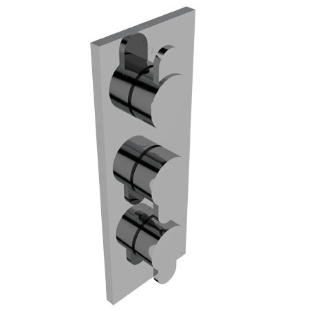 3 hole thermostatic shower mixer EFFE | Thermostatic shower mixer - Signorini Rubinetterie