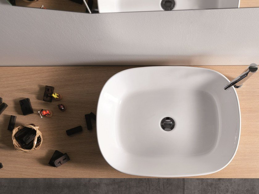 Countertop ceramic washbasin EGG by Ex.t