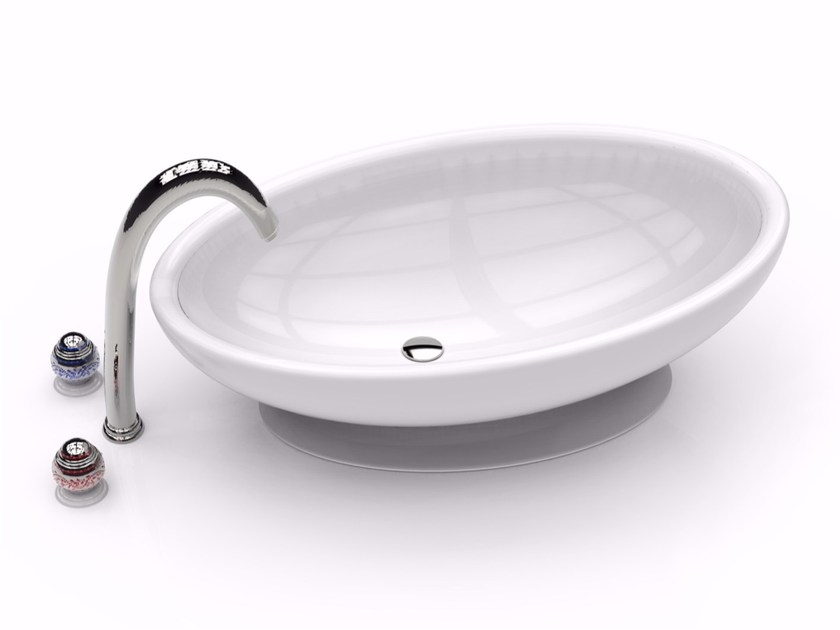 Countertop oval Adamantx® washbasin EGG - ZAD ITALY