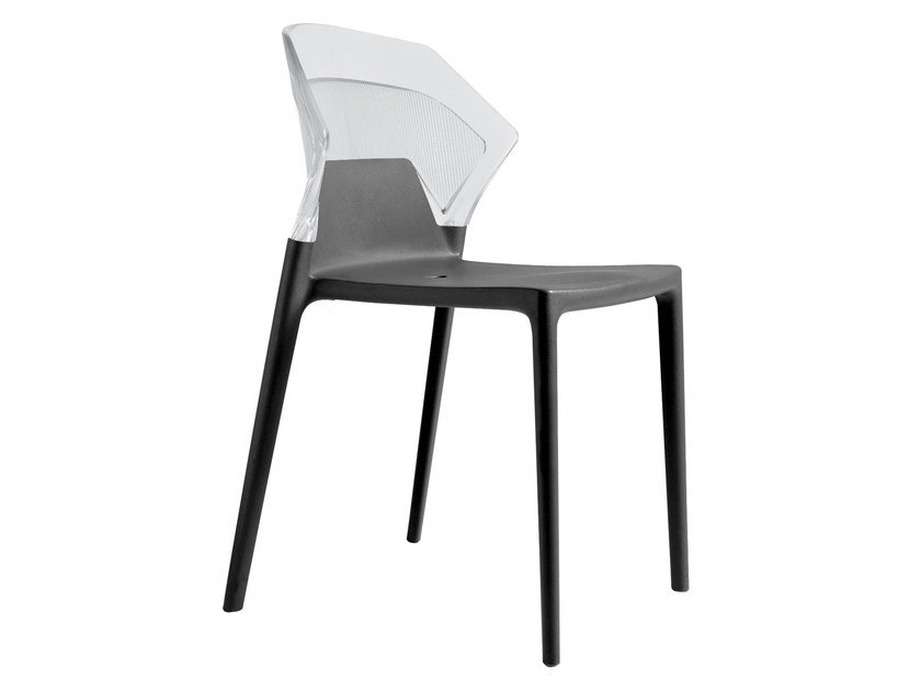 Stackable polypropylene garden chair EGO-S by Papatya