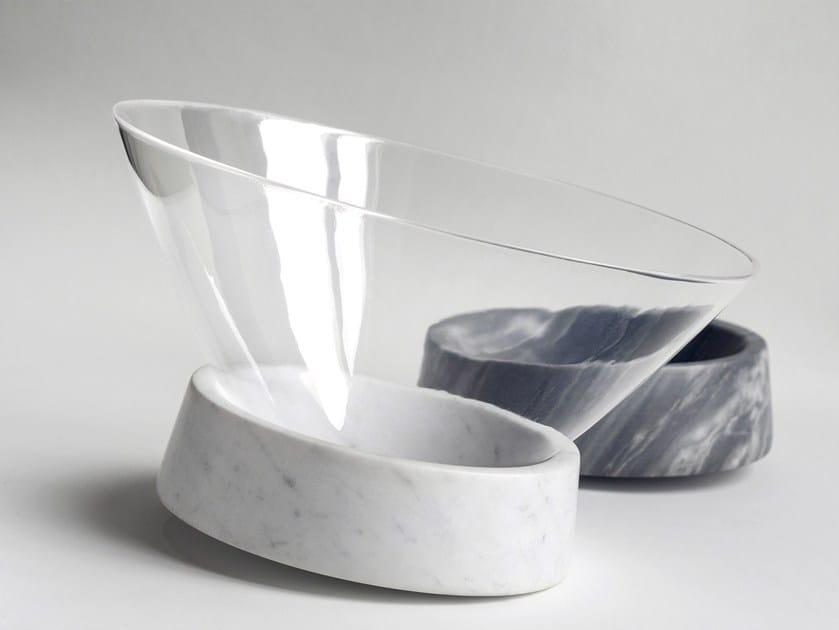 Carrara marble centerpiece EGOCENTRICO by gumdesign