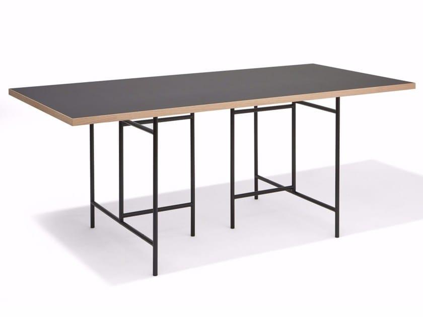 Rectangular linoleum table EIERMANN 3   Rectangular table - Richard Lampert