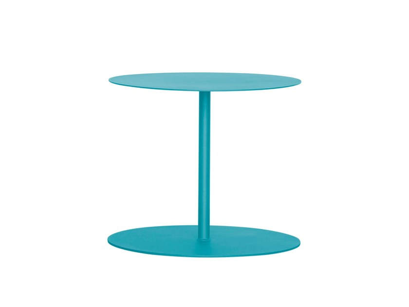 Lacquered round galvanized steel coffee table EIVISSA - iSimar