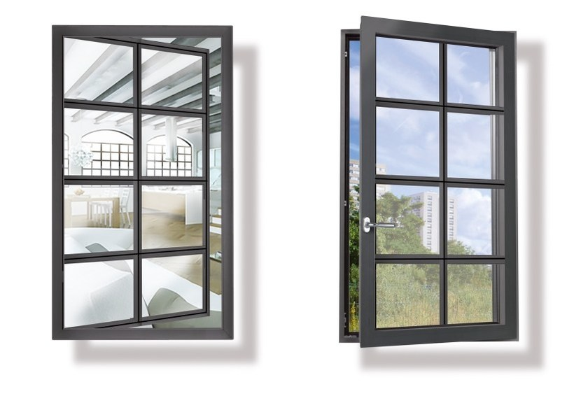 Finestra a taglio termico in alluminio eku perfektion linea ferro profilati - Costruire una finestra in alluminio ...