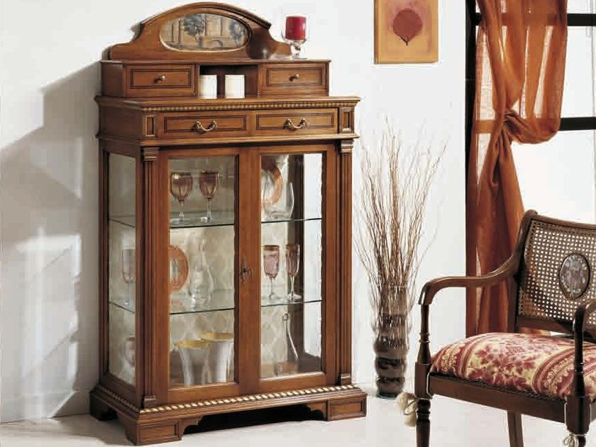 Solid wood display cabinet ELBA by Arvestyle