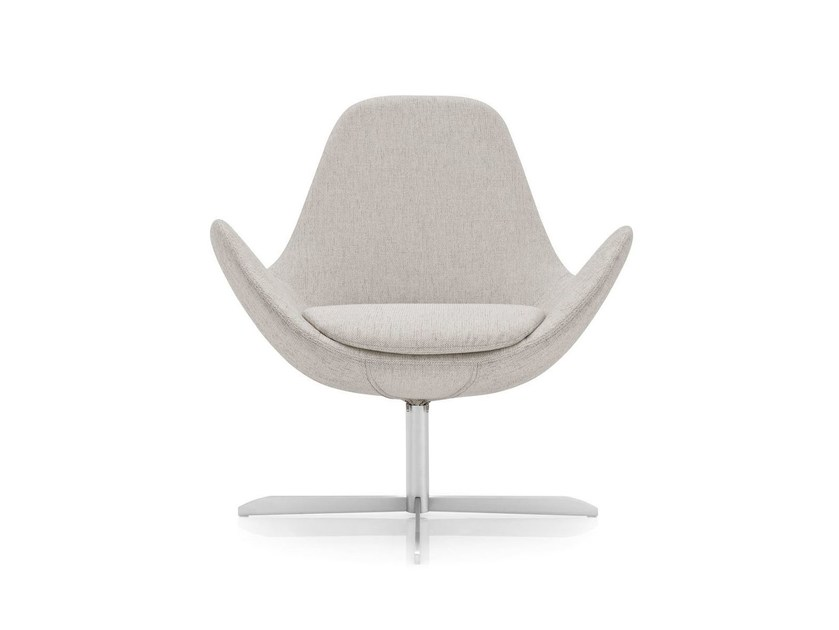 Swivel fabric armchair ELECTA | Swivel armchair by Calligaris