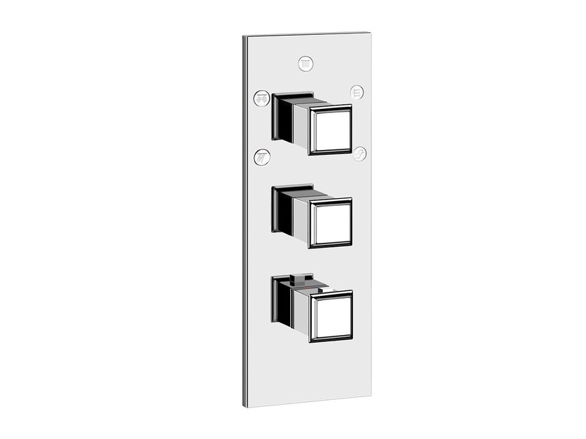 3 hole thermostatic shower mixer ELEGANZA SHOWER 46212 by Gessi