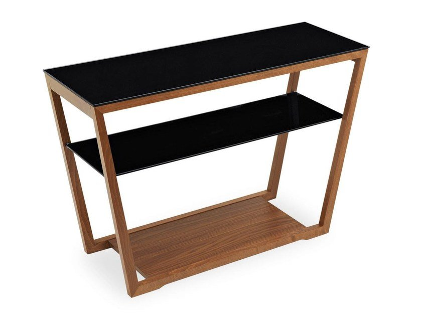Lacquered rectangular console table ELEMENT | Console table - Calligaris