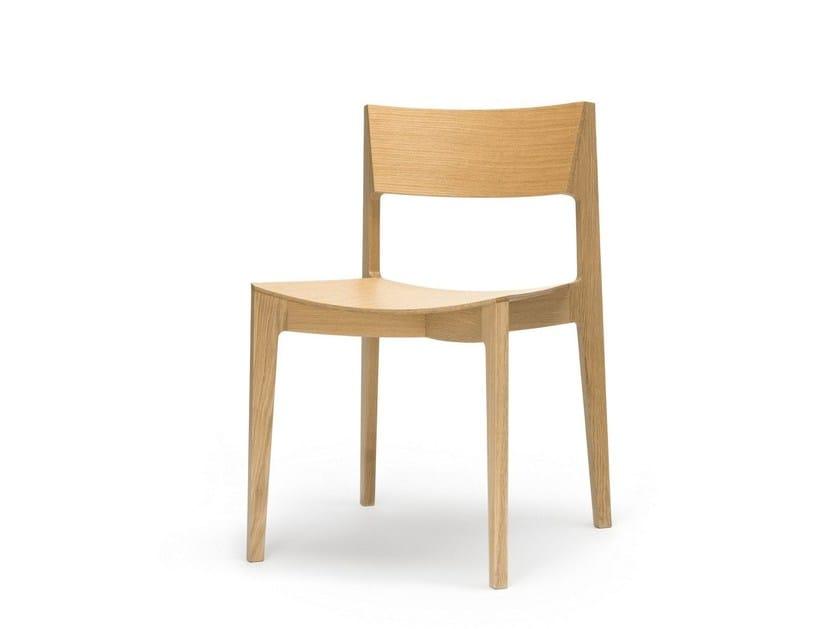 Sedia in legno con schienale aperto ELEMENTARY | Sedia by Feelgood Designs