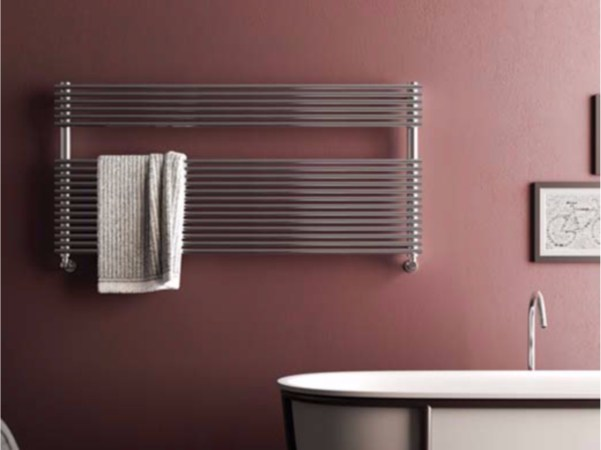 Horizontal wall-mounted towel warmer ELEN WIDE - CORDIVARI