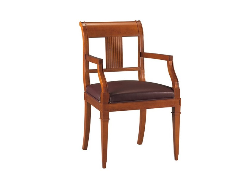 Cherry wood chair with armrests ELENA | Chair with armrests - Morelato