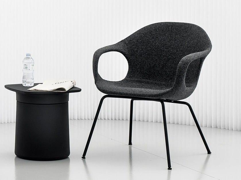 Fabric easy chair with armrests ELEPHANT LONGUE - Kristalia