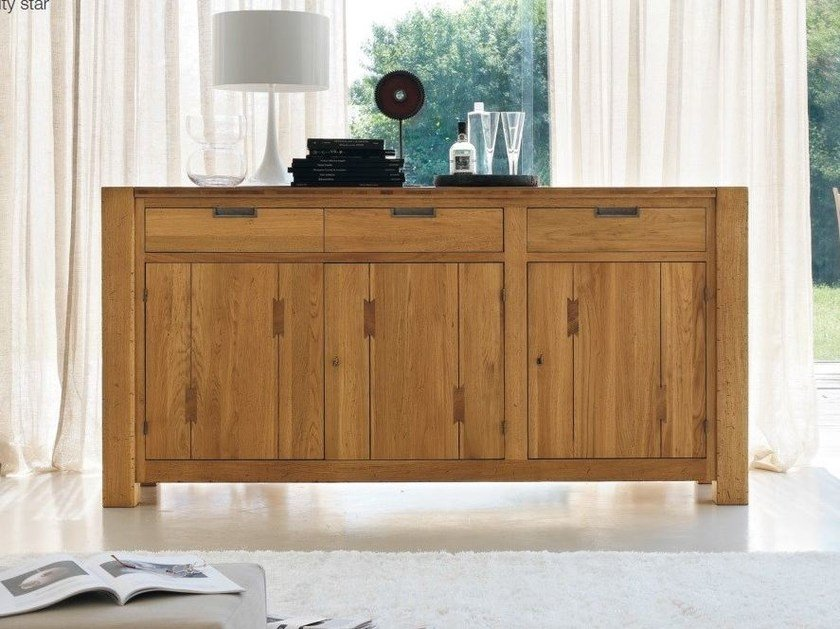 Wooden sideboard with doors ELEPHANT | Wooden sideboard - Devina Nais