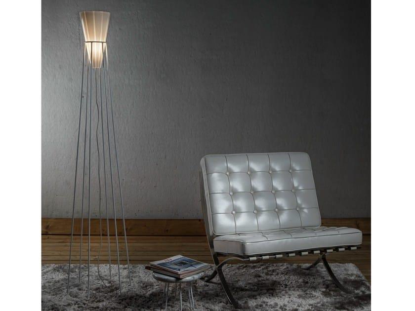Glass floor lamp ELETTRA - ILIDE italian light design