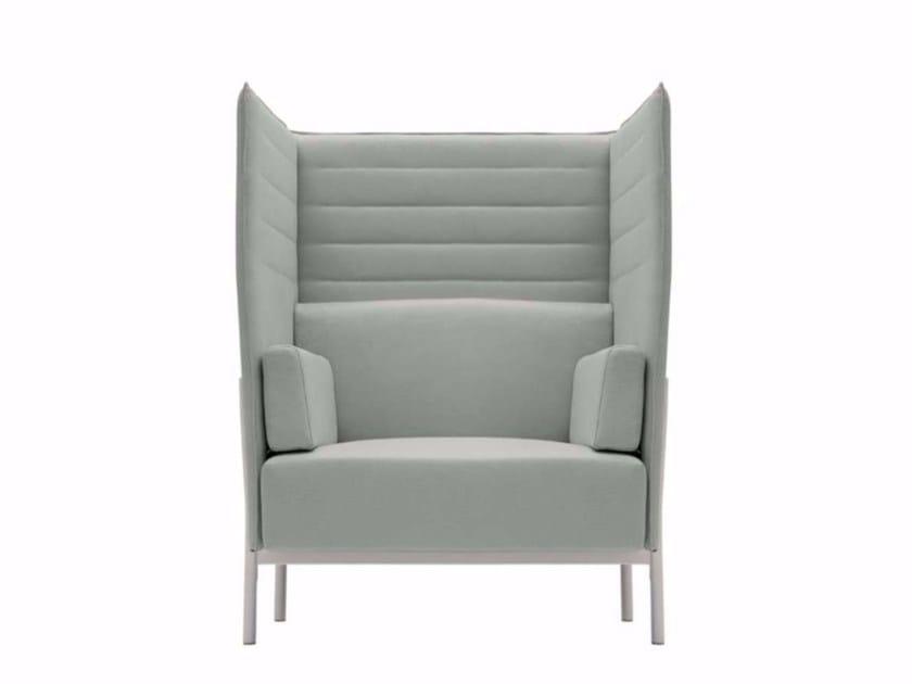 High-back fabric armchair ELEVEN HIGH BACK - 865 - Alias